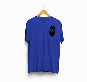 FunkyPocket Shine Beard Royal Blue Casual T-Shirt