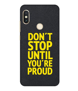 Redmi Note 6  Don't Stop mobile cover