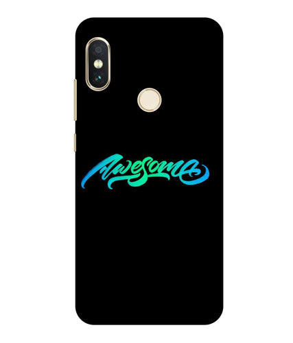 Redmi Note 6 Awesome  mobile cover