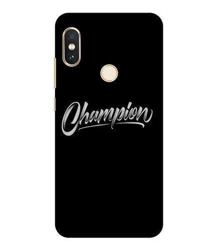 Redmi Note 6 Champion mobile cover
