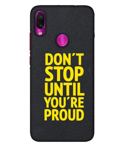 Redmi Note 7 Pro Don't Stop Mobile Cover
