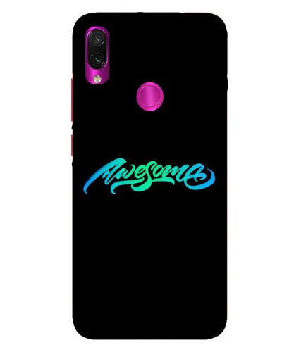 Redmi Note 7 Pro Awesome Mobile Cover