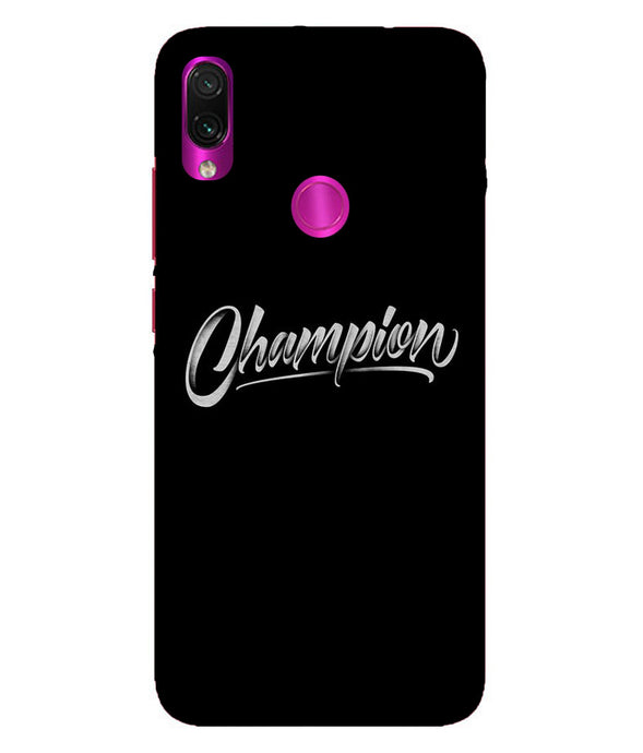 Redmi Note 7 Pro Champion Mobile Cover