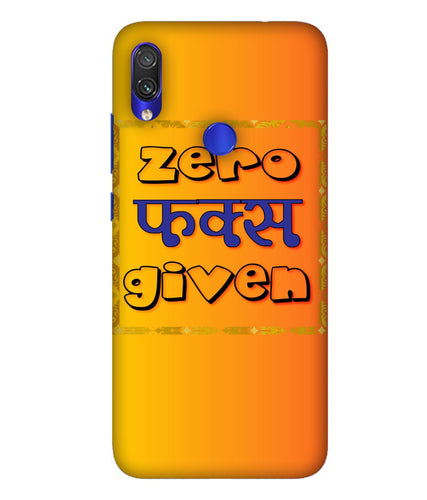 Redmi Note 7 Zero Fs Given Mobile Cover