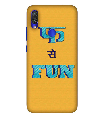 Redmi Note 7 Fun Mobile Cover