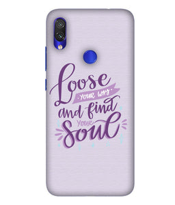 Redmi Note 7 Soul Mobile Cover