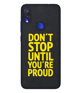 Redmi Note 7 Don't Stop Mobile Cover