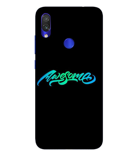 Redmi Note 7 Awesome Mobile Cover