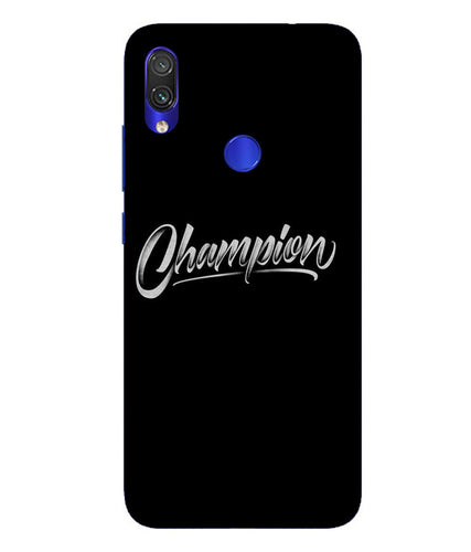 Redmi Note 7 Champion Mobile Cover