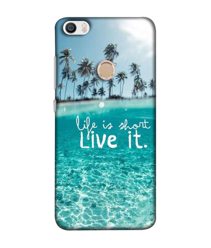 Redmi Max  Live Life mobile cover