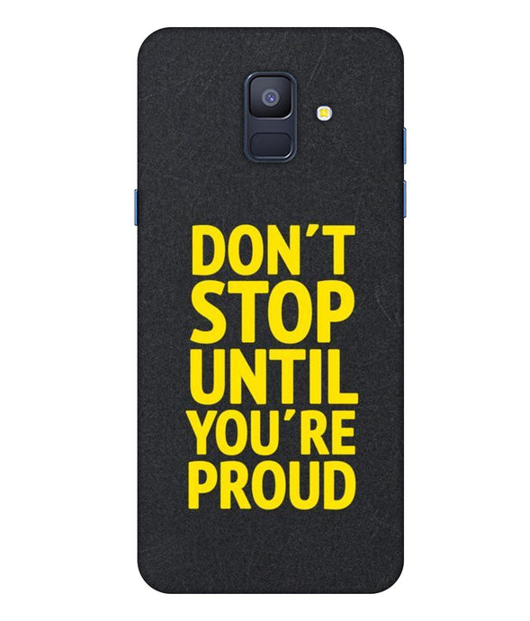 Samsung Galaxy A8 Star Don't Stop Mobile cover