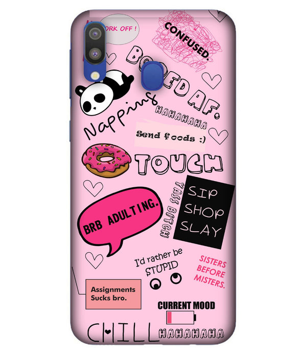 Samsung M20 Doodles mobile cover