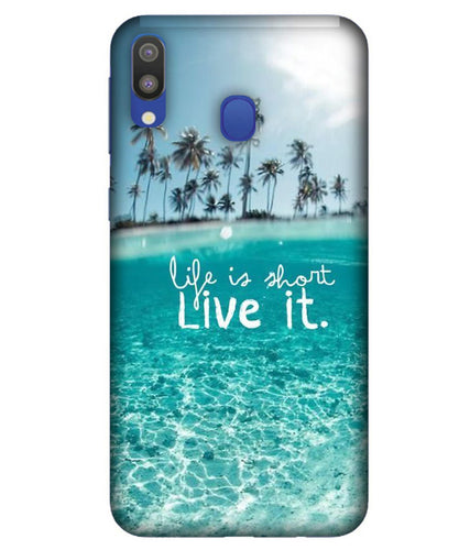 Samsung M20 Live Life mobile cover
