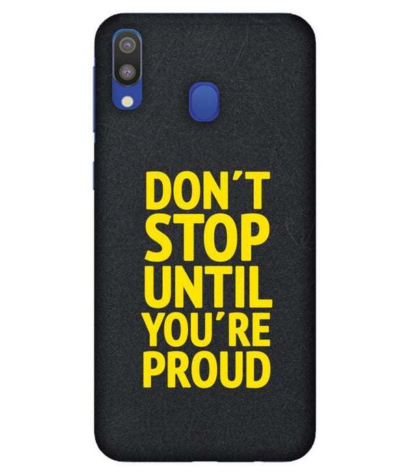 Samsung M20 Don't Stop mobile cover