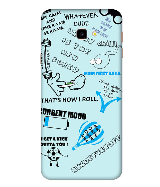 Samsung Galaxy J4 Doodle Mobile Cover