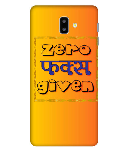 Samsung Galaxy J6 Zero F's Given Mobile Cover
