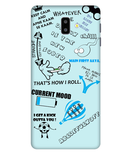 Samsung Galaxy J6 Doodle Mobile Cover