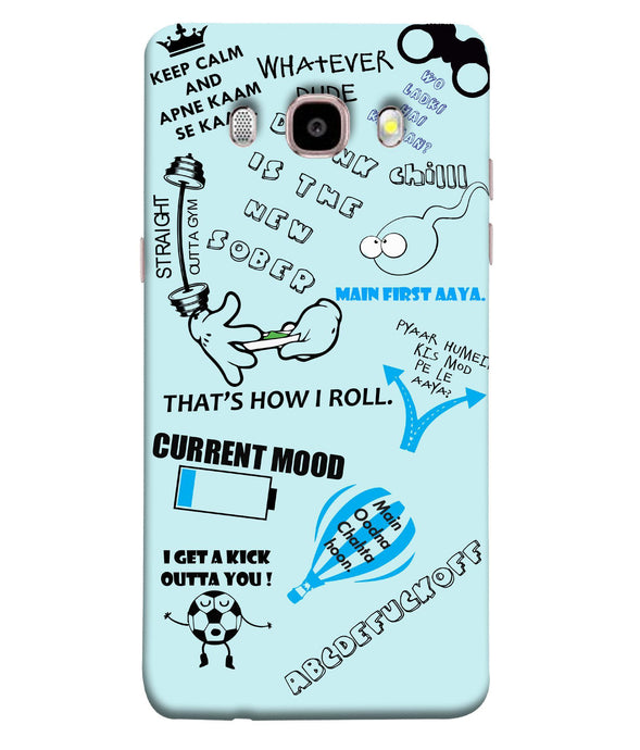 Samsung Galaxy J7-2016 Doodle Mobile cover