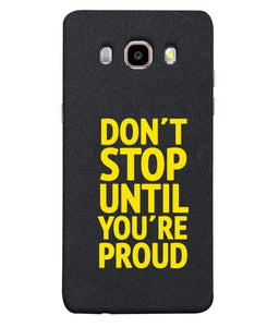 Samsung Galaxy J7-2016 Don't Stop Mobile cover