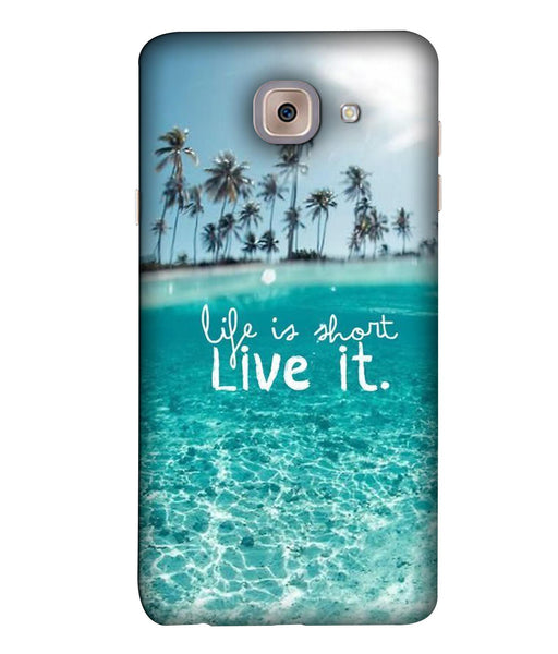 Samsung J7 Max Live Life mobile cover