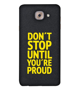 Samsung J7 Max Don't Stop mobile cover