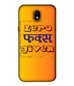 Samsung Galaxy J7 Pro Zero F's Given Mobile Cover
