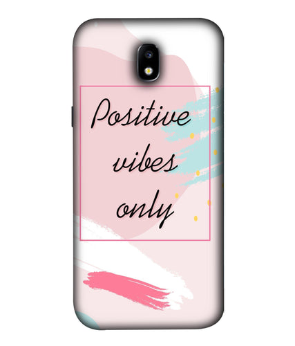 Samsung Galaxy J7 Pro Positive Vibes Only Mobile Cover