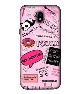 Samsung Galaxy J7 Pro Doodles Mobile Cover