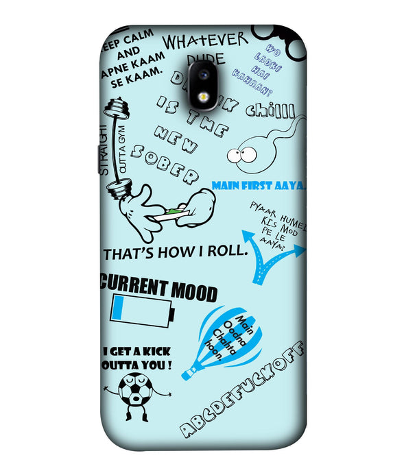Samsung Galaxy J7 Pro Doodle Mobile Cover