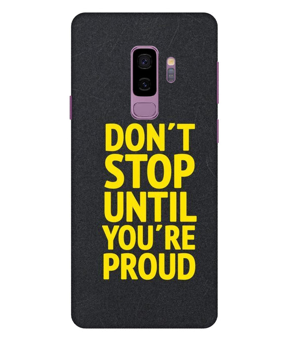 Samsung Galaxy S9 Plus Don't Stop Mobile cover