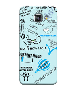Samsung Galaxy A3-2017 Doodle mobile cover