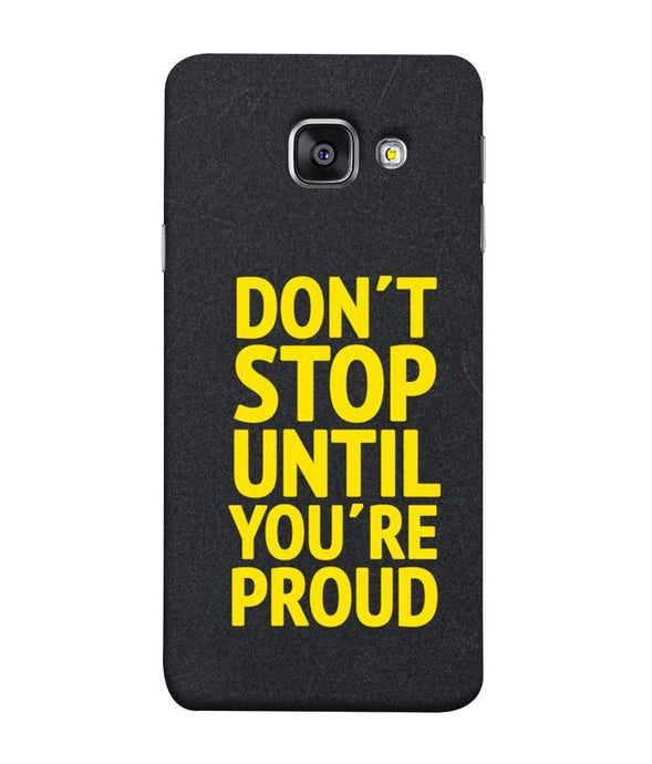 Samsung Galaxy A3-2017 Don't Stop mobile cover
