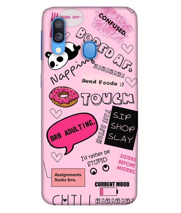 Samsung A40 Doodles mobile cover