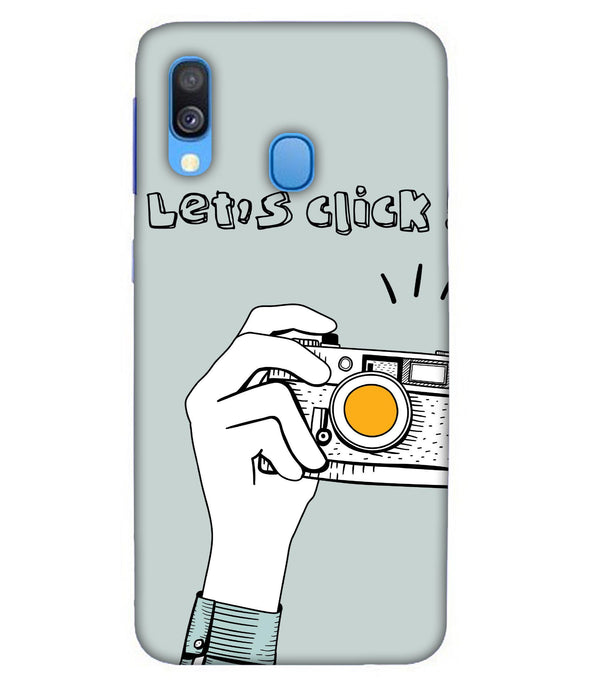 Samsung A40 Let's Click mobile cover