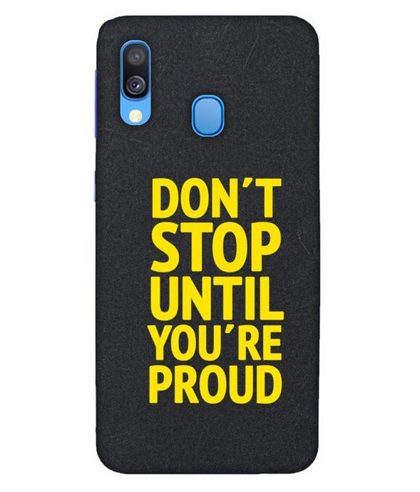 Samsung A40 Don't Stop mobile cover