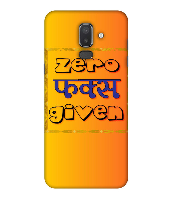 Samsung Galaxy J8 Zero Fs Given mobile cover