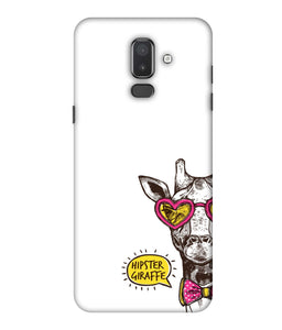 Samsung Galaxy J8 Hipster Giraffe mobile cover