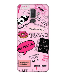 Samsung Galaxy J8 Doodles mobile cover