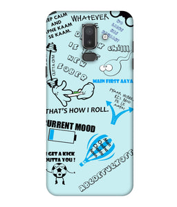 Samsung Galaxy J8 Doodle mobile cover