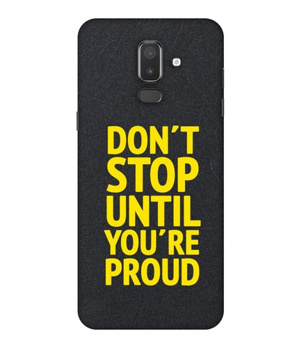 Samsung Galaxy J8 Don't Stop mobile cover