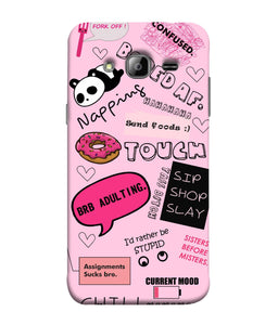 Samsung J3 Doodles Mobile Cover