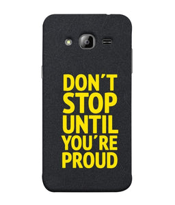 Samsung J3 Don't Stop mobile cover