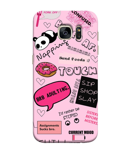 Samsung Galaxy S7 Doodles Mobile Cover