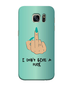 Samsung Galaxy S7 I Don't Give a Fuck Mobile Cover