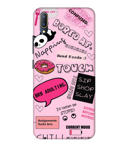 Vivo V11 Pro Doodles Mobile Cover