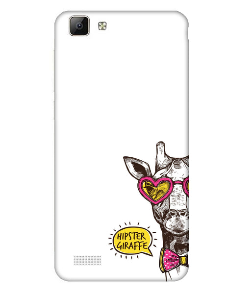 Vivo V1 Hipster Giraffe Mobile Cover