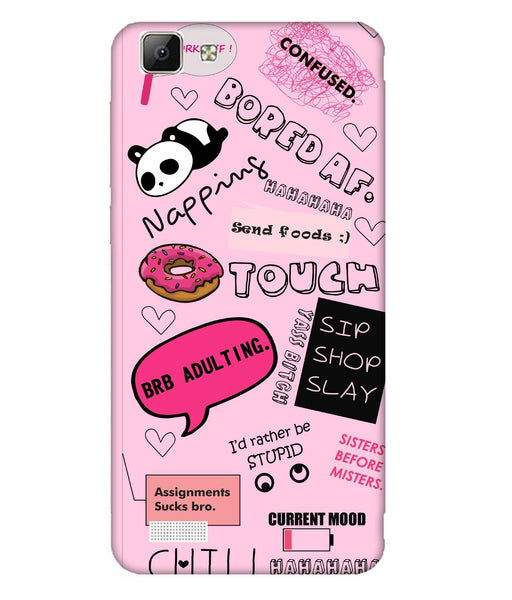 Vivo V1 Doodles Mobile Cover