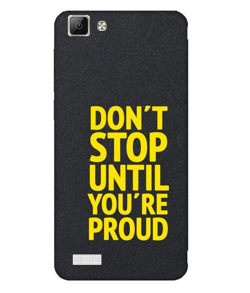 Vivo V1 Don't Stop Mobile Cover
