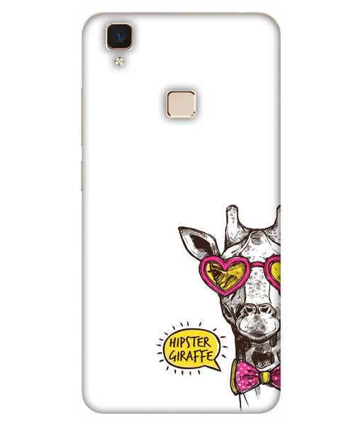 Vivo V3 Hipster Giraffe Mobile Cover