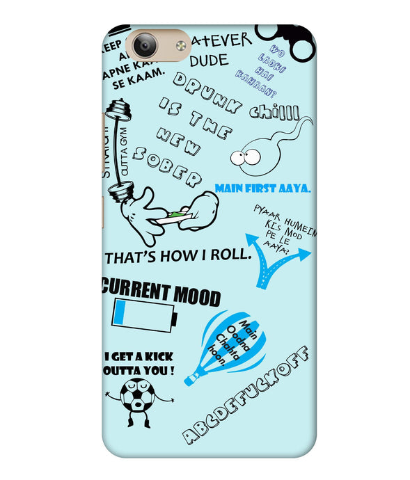 Vivo Y53i Doodle Mobile Cover